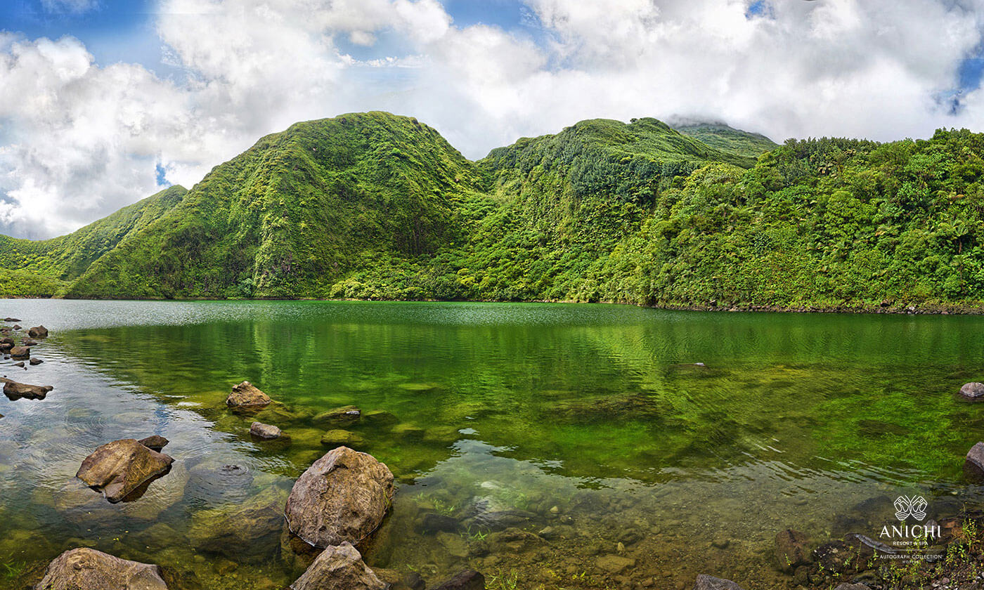 Boeri Lake - Dominica's highest located freshwater lake sits in an old volcanic crater