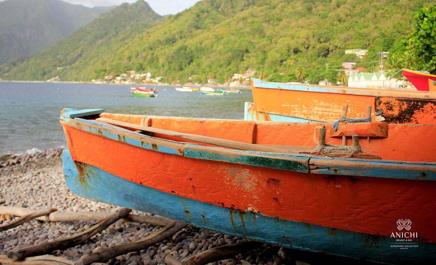 Fishermen Boats - Dominica Image Gallery - Anichi Resort & Spa