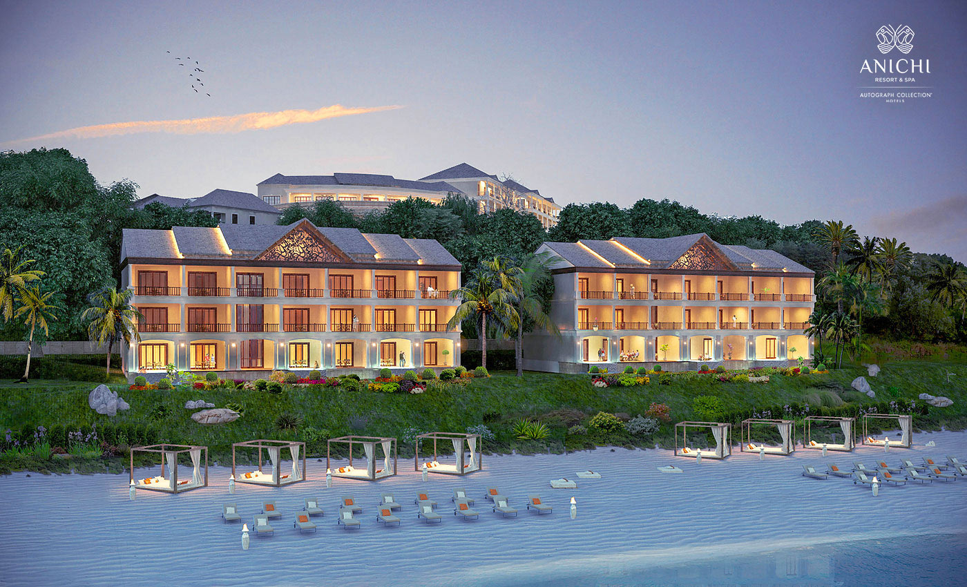 Beachfront Buildings - Resort rendering of the Anichi Resort & Spa