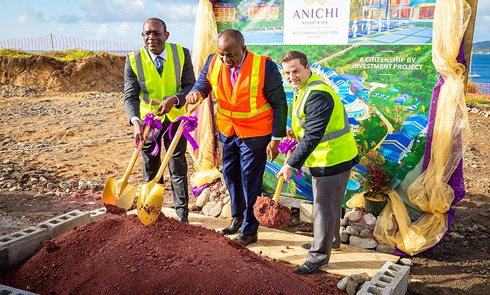 CBI-Funded Anichi Resort & Spa Officially Breaks Ground in Dominica