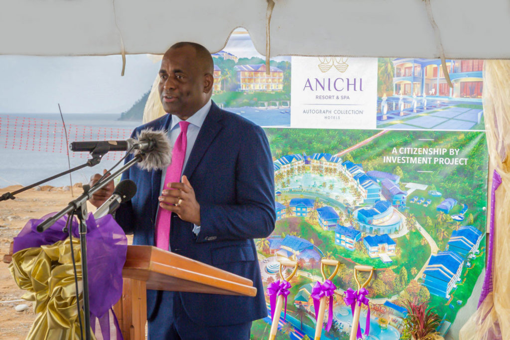 Prime Minister of Dominica, Hon. Roosevelt Skerrit, pledges his presence to help promote Anichi Resort & Spa