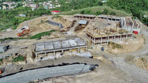 Aerial view of construction at Anichi Resort & Spa