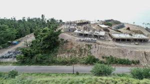 Street view of construction at Anichi Resort & Spa