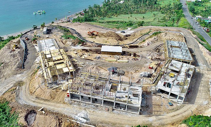 Aerial view of construction at Anichi Resort & Spa: 19 July 2018