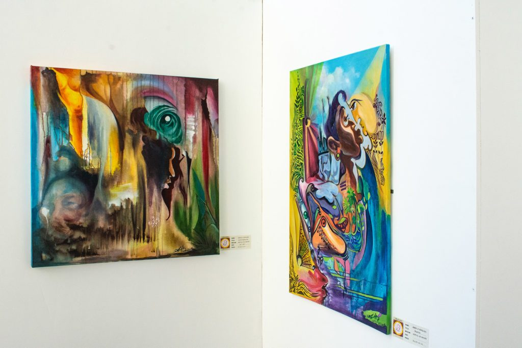 Vibrant pieces from WhoOsh! Art Exhibition Celebrates Dominica Resilience Post Hurricane Maria