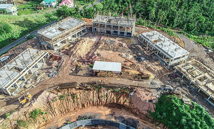 Aerial view of construction at Anichi Resort & Spa: 17 August 2018