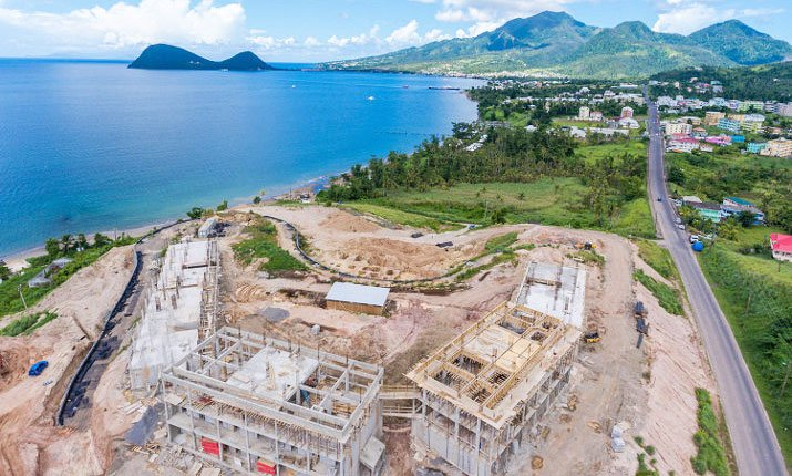Aerial view of construction at Anichi Resort & Spa: 17 September 2018