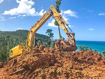 January 15, 2018 Anichi Resort Construction Update: Excavator