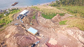 February 7, 2018 Anichi Resort Construction Update: West-North Aerieal View of the Beginning Stage of Construction