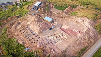 February 7, 2018 Anichi Resort Construction Update: Central Aerieal View of the Beginning Stage of Construction