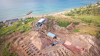 February 7, 2018 Anichi Resort Construction Update: Aerieal View of the Beginning Stage of Construction
