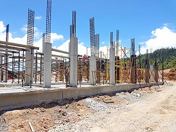 May 15, 2018 Anichi Resort Construction Update: Ground Floor Columns and First Slabs at Block 8