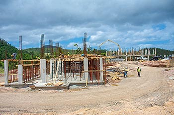 July 03, 2018 Anichi Resort Construction Update: Buildings View from the North