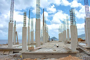 July 03, 2018 Anichi Resort Construction Update: Concrete Columns with Sea View
