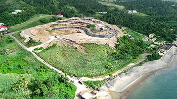 July 19, 2018 Anichi Resort Construction Update: East-South Aerial View