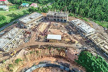 August 17, 2018 Anichi Resort Construction Update: Aerial View of the Construction Site