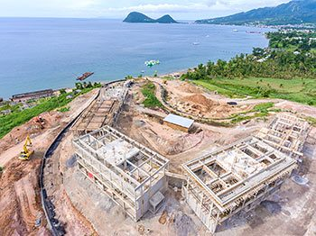 Anichi Resort Construction Update: Aerial View of the Construction Site to the West-North - October 17, 2018