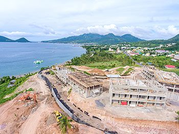 Anichi Resort Construction Update: Aerial View of the Construction Site to the North - October 17, 2018