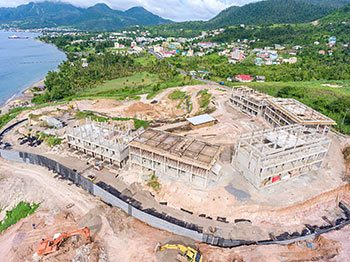 Anichi Resort Construction Update: Aerial View to the East-North - October 17, 2018