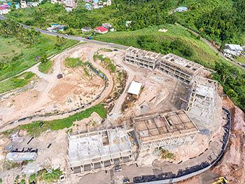 Anichi Resort Construction Update: Aerial View to the East - October 17, 2018