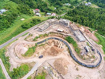 Anichi Resort Construction Update: Aerial View to the East-South - October 17, 2018