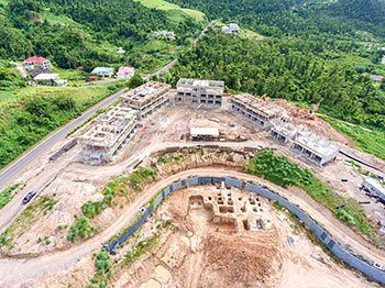 Anichi Resort Construction Update: Aerial View of the Construction Site to the East-South - October 17, 2018