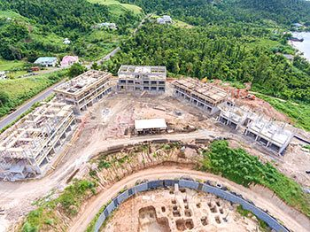 Anichi Resort Construction Update: Aerial View to the South - October 17, 2018