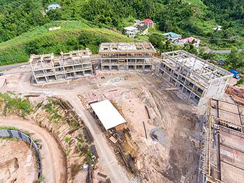 Anichi Resort Construction Update: Aerial View to the East with Buildings at the Left - October 17, 2018