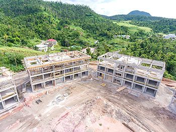 Anichi Resort Construction Update: Aerial View to the East - Close up View of Buildings at the Left. October 17, 2018