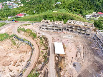 Anichi Resort Construction Update: Aerial View to the East - Buildings View at the Left. October 17, 2018