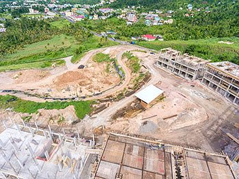 Anichi Resort Construction Update: Aerial View to the Central Part of the Construction Site. October 17, 2018
