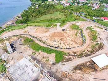 Anichi Resort Construction Update: Aerial View to the North with Central Part of the Construction Site. October 17, 2018