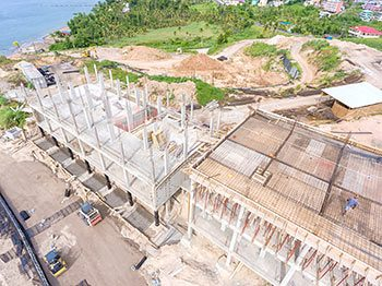Anichi Resort Construction Update: Aerial View of Buildings at the West - October 17, 2018