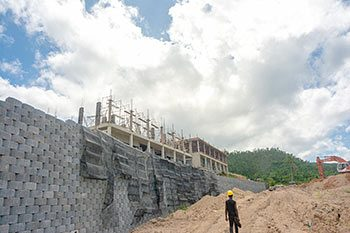 Anichi Resort Construction Update: Part of the Retaining Wall at the Construction Site - October 17, 2018
