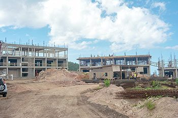 Anichi Resort Construction Update: South Buildings at the Construction Site - October 17, 2018