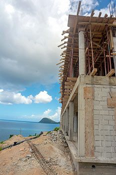 Anichi Resort Construction Update: Building with Caribbean Sea View at the Construction Site - October 17, 2018