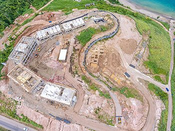 Aerial View of the Construction Site - September 17, 2018 Anichi Resort Construction Update. Anichi Resort.