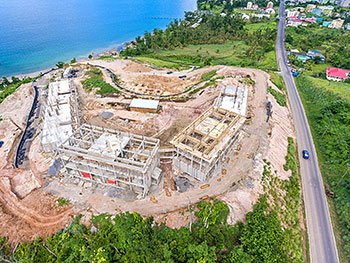 September 17, 2018 Anichi Resort Construction Update: Aerial View of the Construction Site