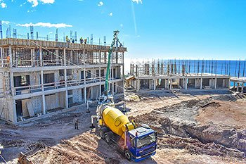 September 17, 2018 Anichi Resort Construction Update: View of Building 8 and 2