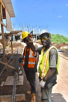 October 3, 2018 Cabinet Site Visit: Construction Workers