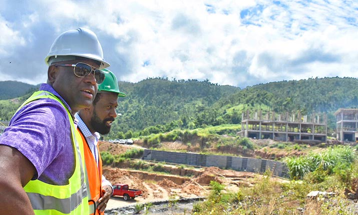 PM of Dominica, Hon. Roosevelt Skerrit, CEO of Oriental Developers (Caribbean) Ltd., Mr. Alick Lawrence