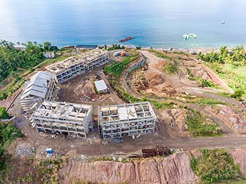 Aerial View to the Caribbean Sea - January 21, 2019 Anichi Resort Construction Site