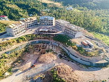 February 17, 2019 Anichi Resort Construction Site: Aerial View from South