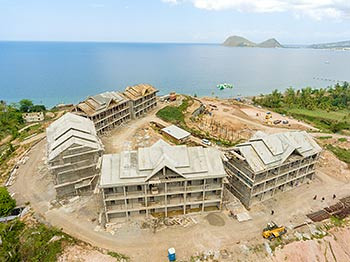 April 27, 2019 Anichi Resort Construction Site: Aerial View to the Caribbean Sea