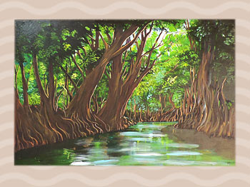 Dominica Arts and Crafts Exhibition on May 10, 2019: Indian River by Hubert Rosabal