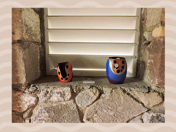 Dominica Arts and Crafts Exhibition on May 10, 2019: Calabash Vases by Chase Lawrence