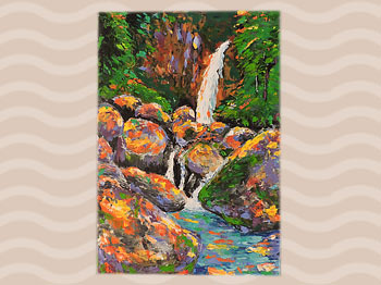 Dominica Arts and Crafts Exhibition on May 10, 2019: Coloured Waters by Chase Lawrence