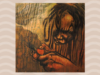 Dominica Arts and Crafts Exhibition on May 10, 2019: Hustler 2 by Lowell Royer
