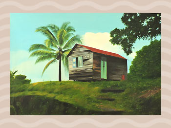 Dominica Arts and Crafts Exhibition on May 10, 2019: Nanny House by Hubert Rosabal