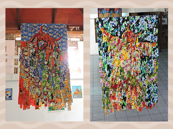 Dominica Arts and Crafts Exhibition on May 10, 2019: Dominica Textile Work